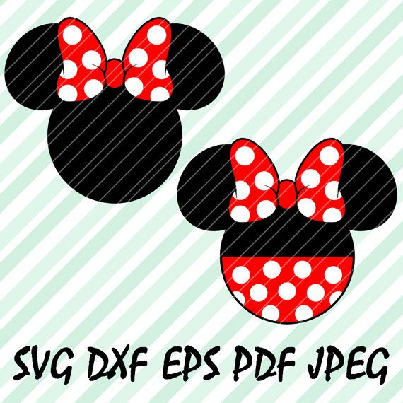 570x570 Minnie Mouse Red Svg Dxf Eps Pdf Vector Cuttable File Cricut