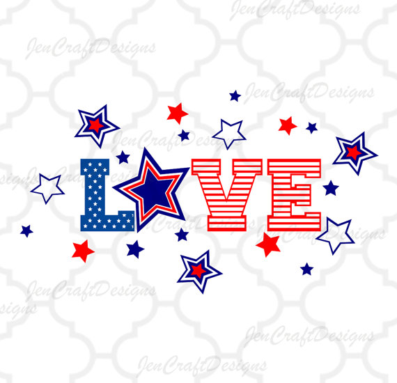 570x550 Patriotic Flag Svg Love Cut Files For Vinyl Cutters, Screen