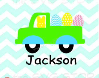 340x270 Peep Truck With Easter Eggs Design Svg And Studio Files For Cricut