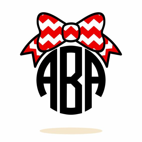 570x570 Personalized Monogram, Chevron, Bow, Svg, Dxf, Vector Art Files