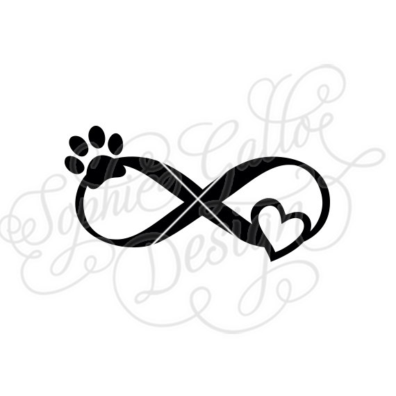 570x570 Pet Love Infinity Tattoo Svg Dxf Png Digital Download File