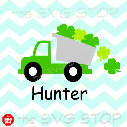 444x445 St Patricks Day Shamrock Truck Design Svg And Studio Files