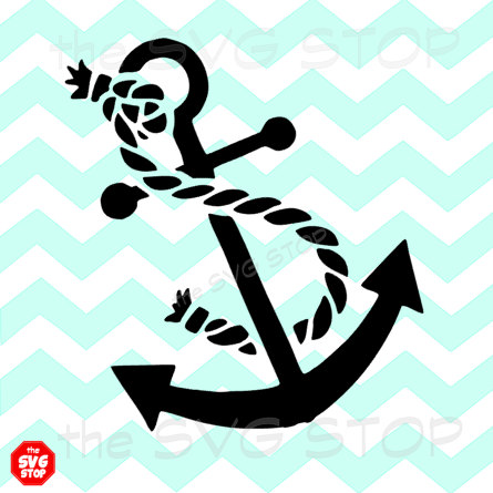 445x445 Anchor With Rope Design Svg And Studio Files For Cricut