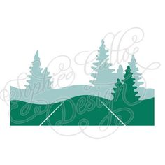 236x236 Christmas Trees Design, Svg Dxf Digital Download File Silhouette