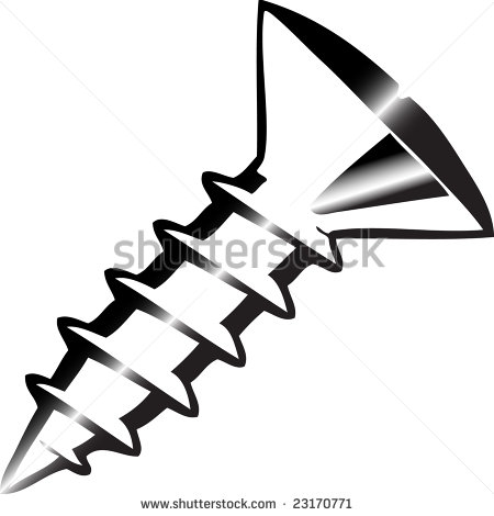 450x470 Screw Black And White Clipart