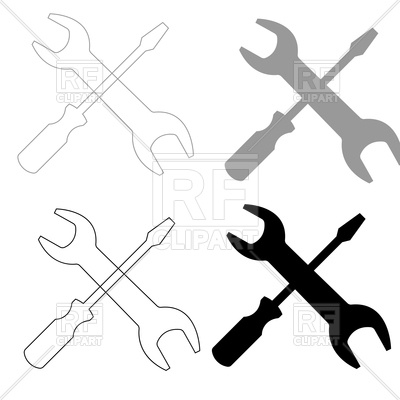 400x400 Screwdriver And Wrench