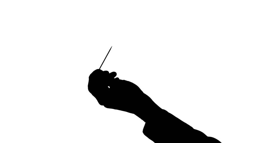 852x480 Male Hand Holding Screwdriver Isolated Black Silhouette