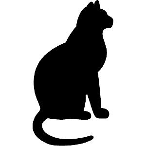 300x300 A Cute Bit Chubby Big Cat Silhouette Templatestencil Sjabloon