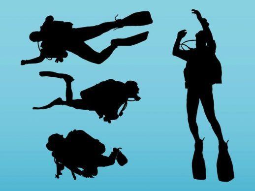 518x388 Scuba Diving Vector