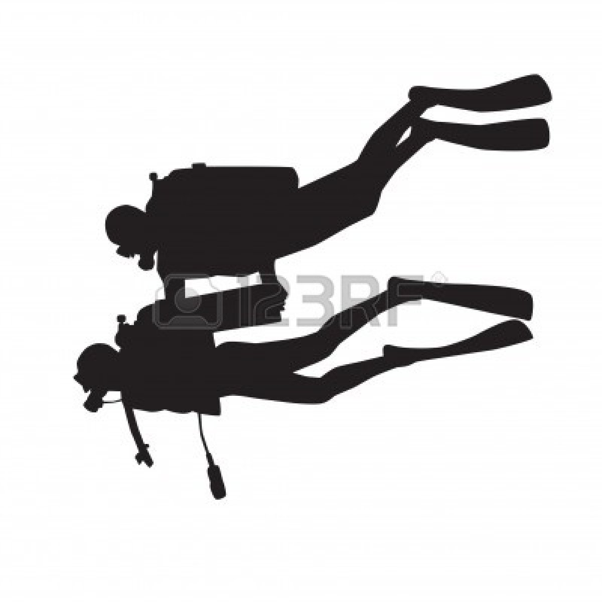 1200x1200 Diver Silhouette Clipart Incredible Scuba Diving Silhouettes