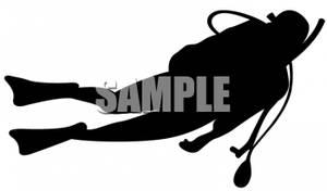 300x176 Image Silhouette Of A Man Scuba Diving
