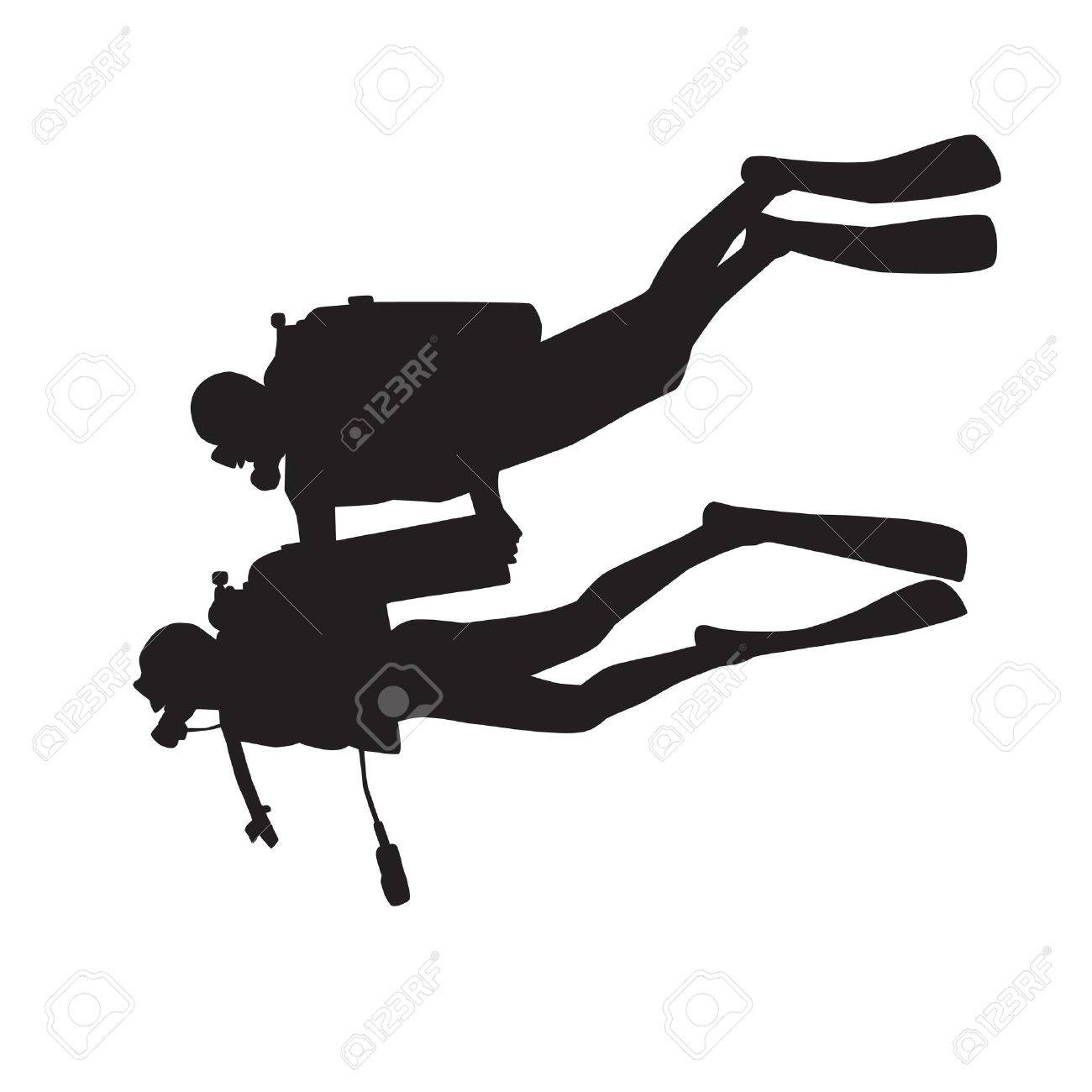 1300x1300 Scuba Diver Vector Image 1822441 Stockunlimited Brilliant High