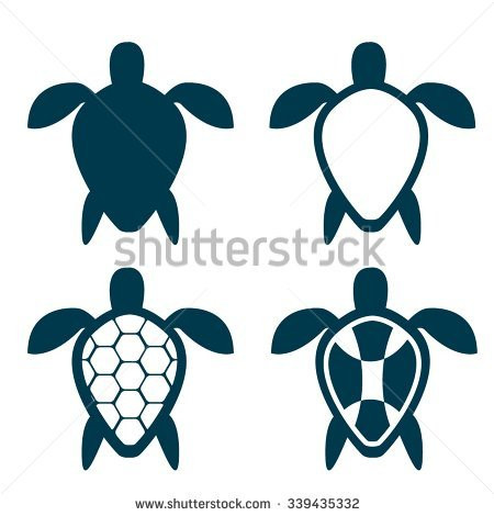 450x470 Sea Life Silhouette Icons Download Free Vector Art Stock Graphics