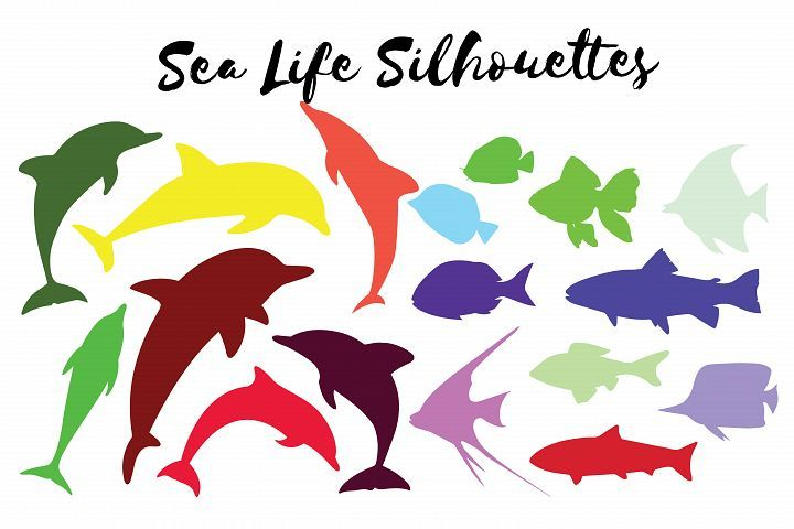 720x480 Fishes,sealife,fish Silhouettes,faishes Clipart,fishes