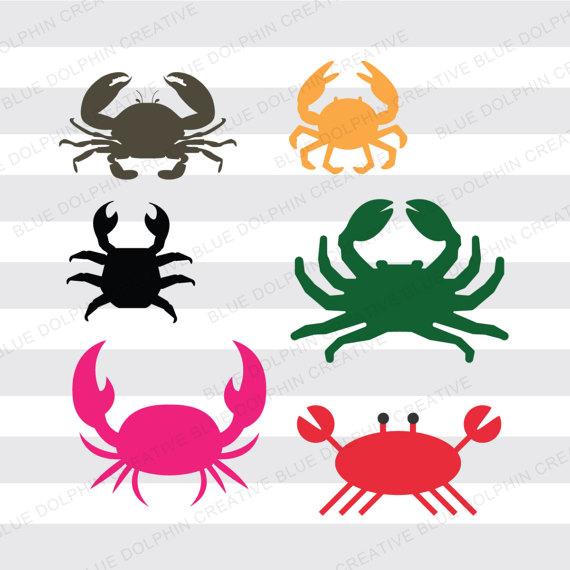 570x570 Crab Set, Svg Dxf Png Pdf Jpg Ai, Cricut Cutting Files, Silhouette