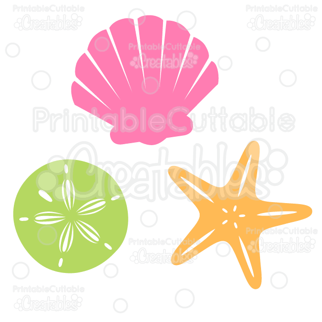 650x650 Sea Shells Free Svg Cut File Amp Clipart Beach Clipart, Cutting