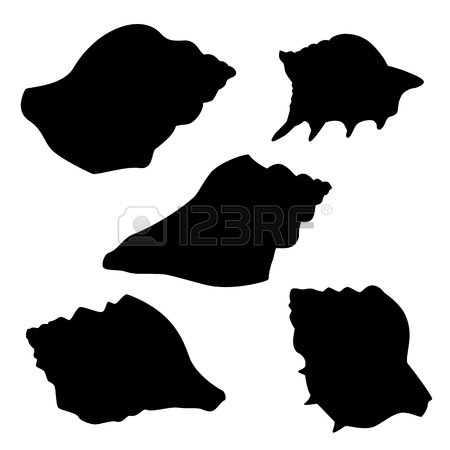 450x450 Silhouettes Of Seashells, Clipart Panda
