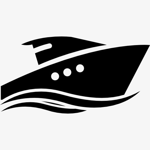 512x512 Yacht Silhouette Vector To The Sea, Yacht, Yacht Vector, Yacht