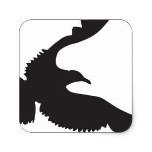 307x307 Seagull Silhouette Stickers Zazzle