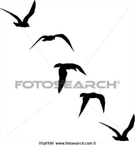 450x488 Seagull Silhouette Clipart