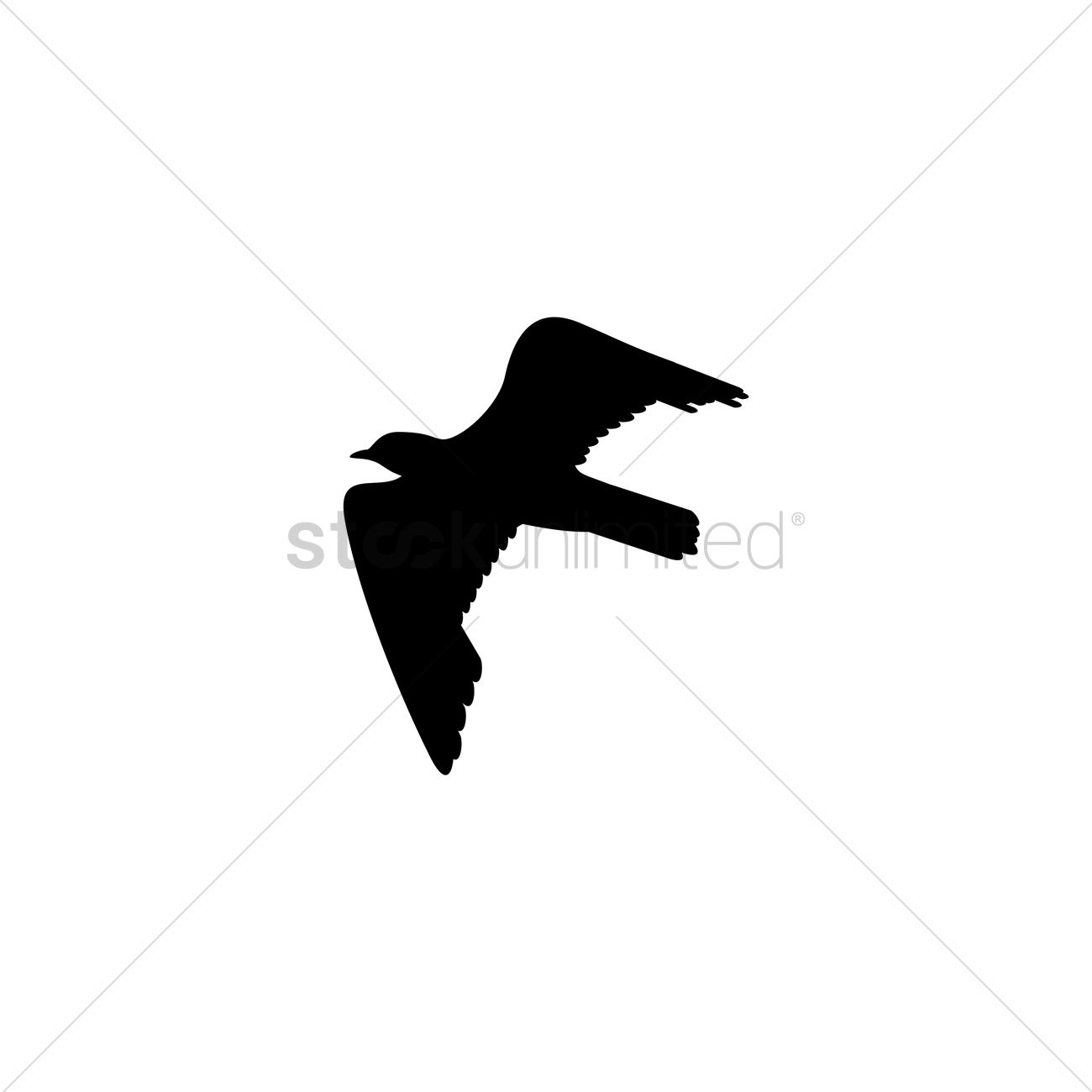 1300x1300 Gull Silhouette Vector Image