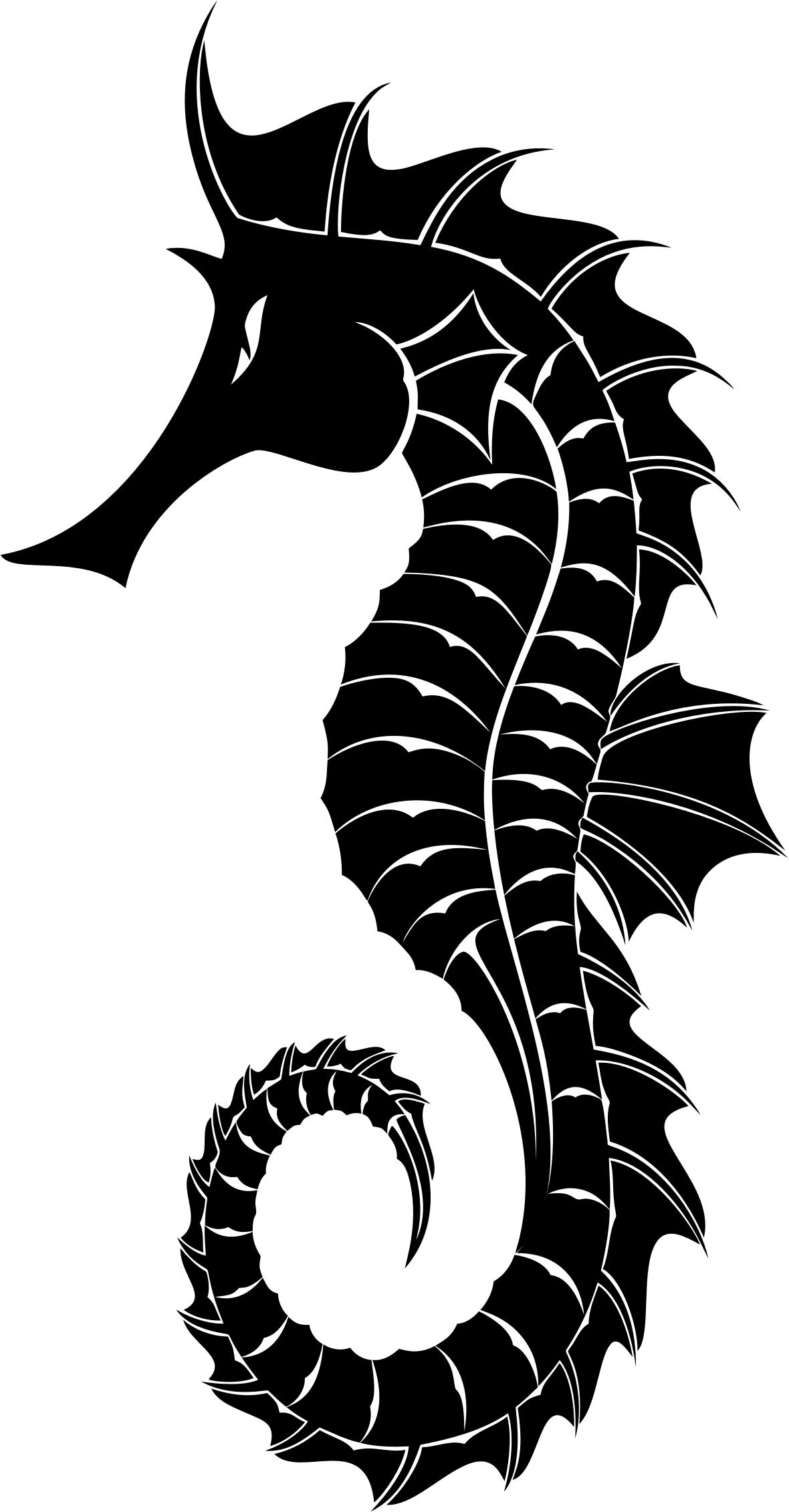 1180x2262 Detailed Seahorse Silhouette Icons Png
