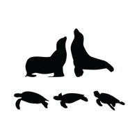 200x200 Shape Shapes Sealion Silhouette Silhouettes Seal Seals Animal