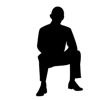 340x340 Free Silhouette Vector Icon, Chair, Simple