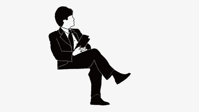 650x366 Man Sitting, Seated, Vector Man Png And Vector For Free Download