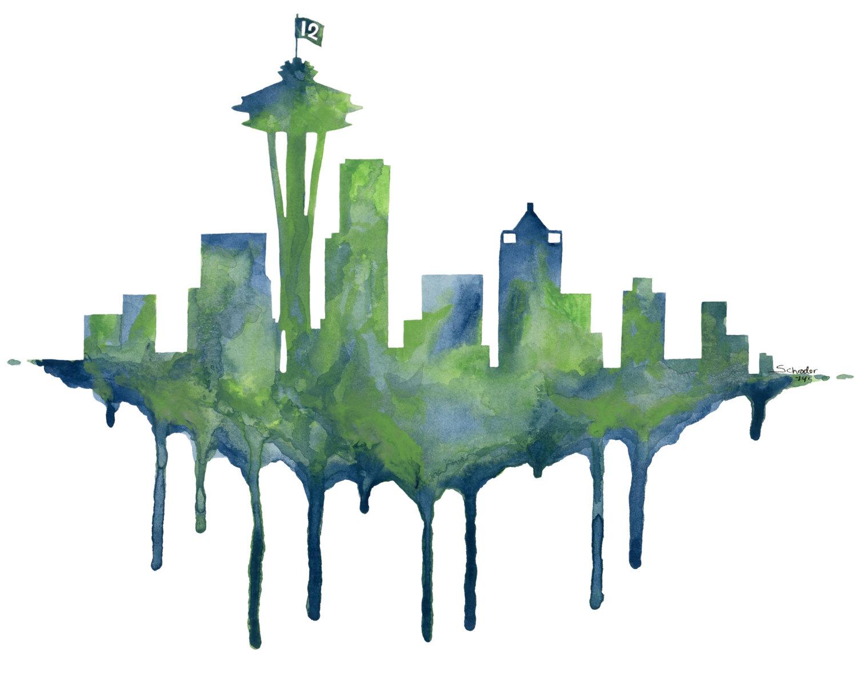 1500x1200 Seattle Skyline Seattle Seattle Skyline, Tattoo
