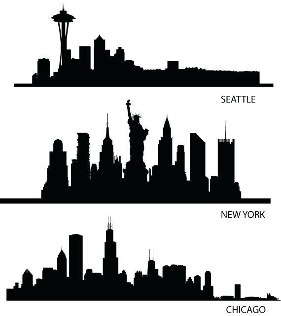 570x640 Seattle Skyline Silhouette Seattle Skyline Silhouette Clip Art