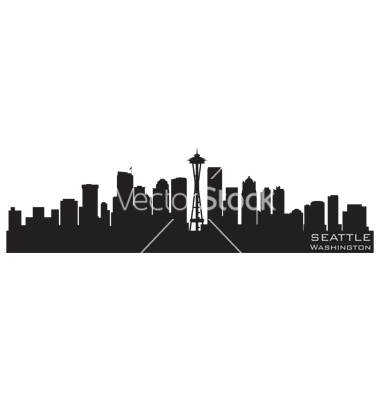 Seattle Skyline Silhouette Vector Free