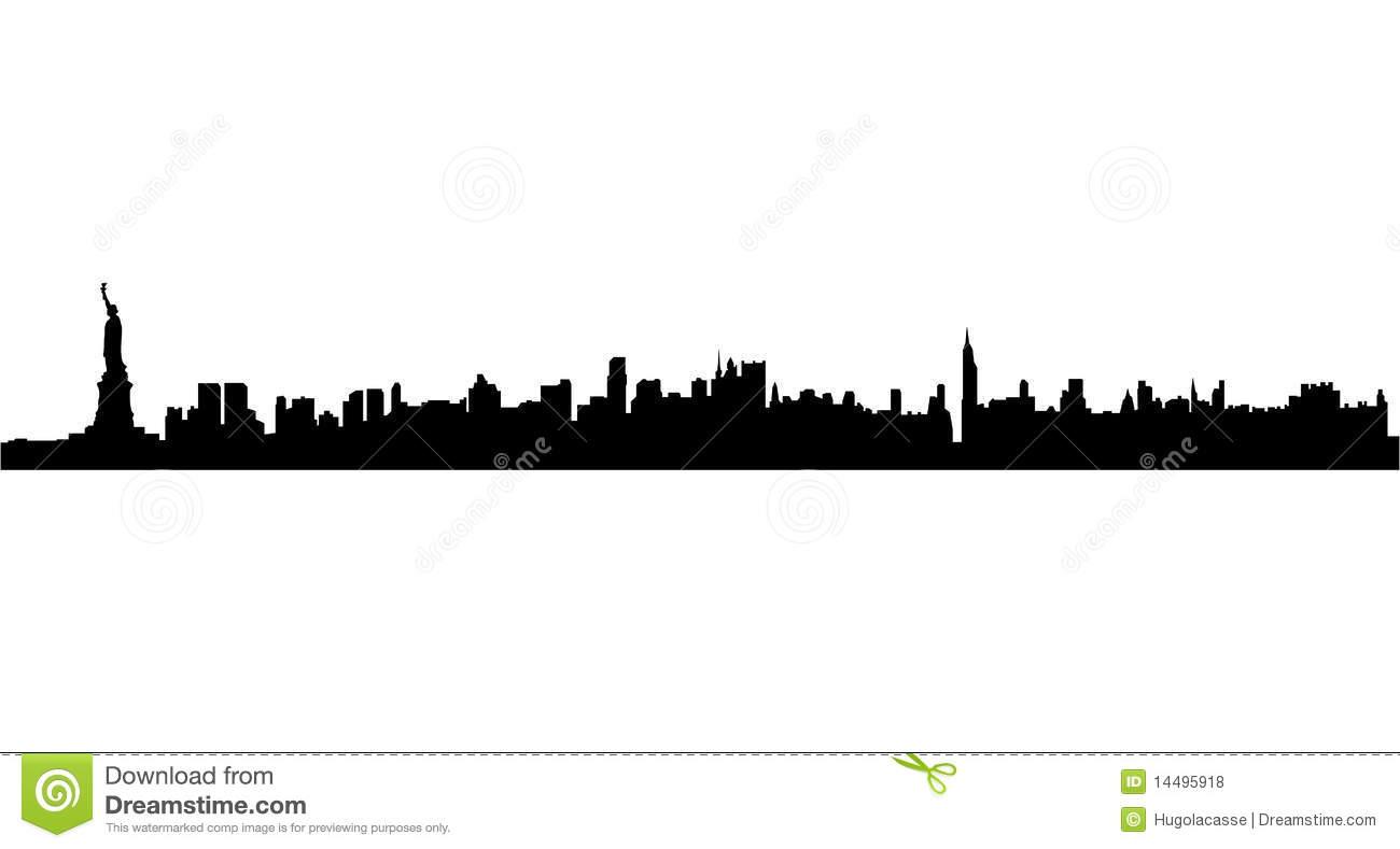 1300x789 Manhattan Skyline Silhouette Manhattan Skyline Silhouette