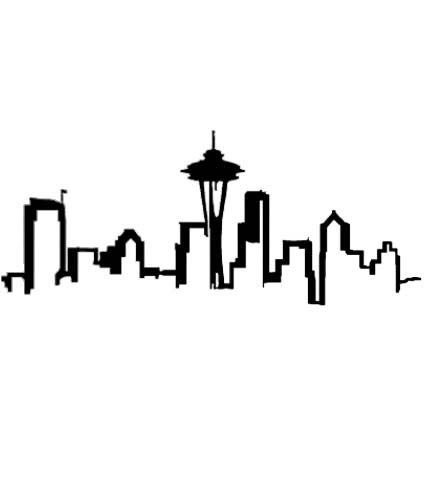 424x504 Seattle Skyline Outline