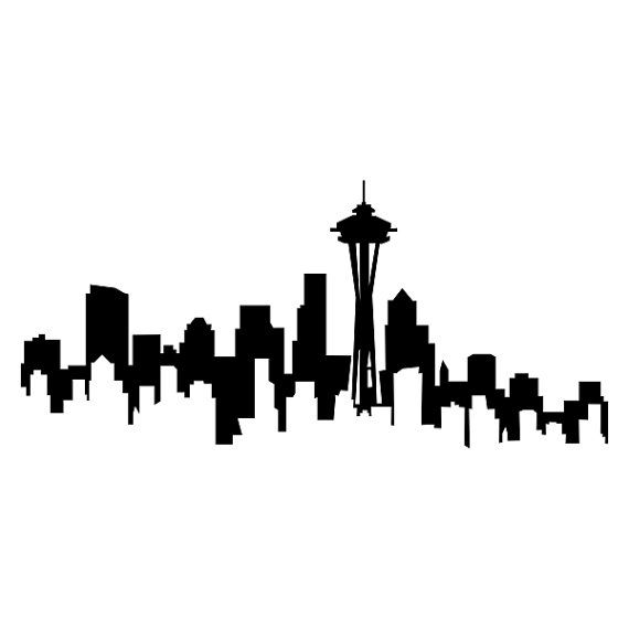 570x570 Seattle Skyline Washington Cuttable Design Svg Dxf By Cuttablesvg