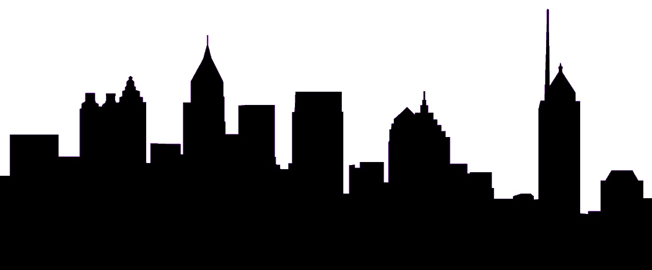 1280x530 Free Silhouette Skyline, Hanslodge Clip Art Collection