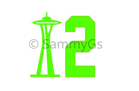 570x374 Seattle Seahawks 12th Man Space Needle Svg, Jpg Silhouette File
