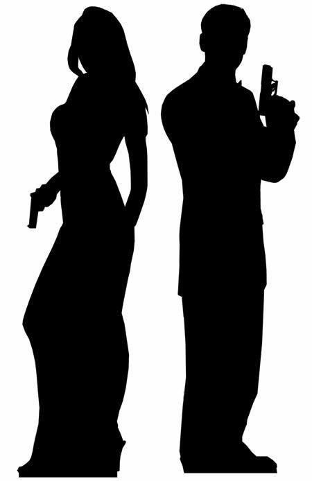 450x694 Secret Agent Male And Female Lifesize Cardboard Cutout Standee