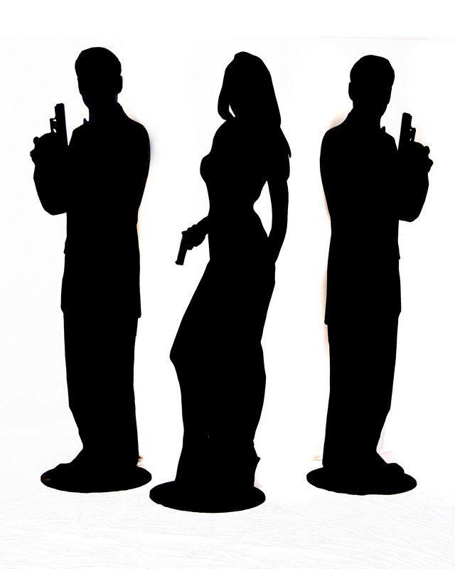 640x800 Secret Agent Silhouette James Bond
