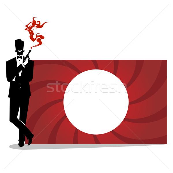 600x600 Secret Agent Silhouette Vector Illustration Tommaso Chiarolini