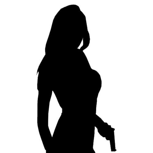 500x500 Female Secret Agent Silhouette