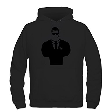 385x385 Security Guard Silhouette Hoodie By Shirtcity Amazon.co.uk Clothing