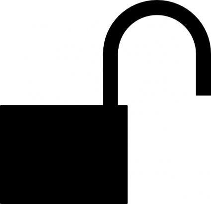 425x410 Symbol Silhouette Padlock Security Unlocked Lock Insecure Vector