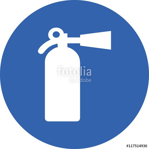 500x500 Fire Extinguisher Icon Sign Vector Industrial Urgent Safety