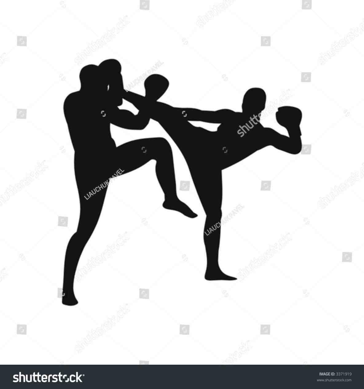 1185x1264 Kick Silhouette Straight Up Kick Boxing To Karate U Self Defense
