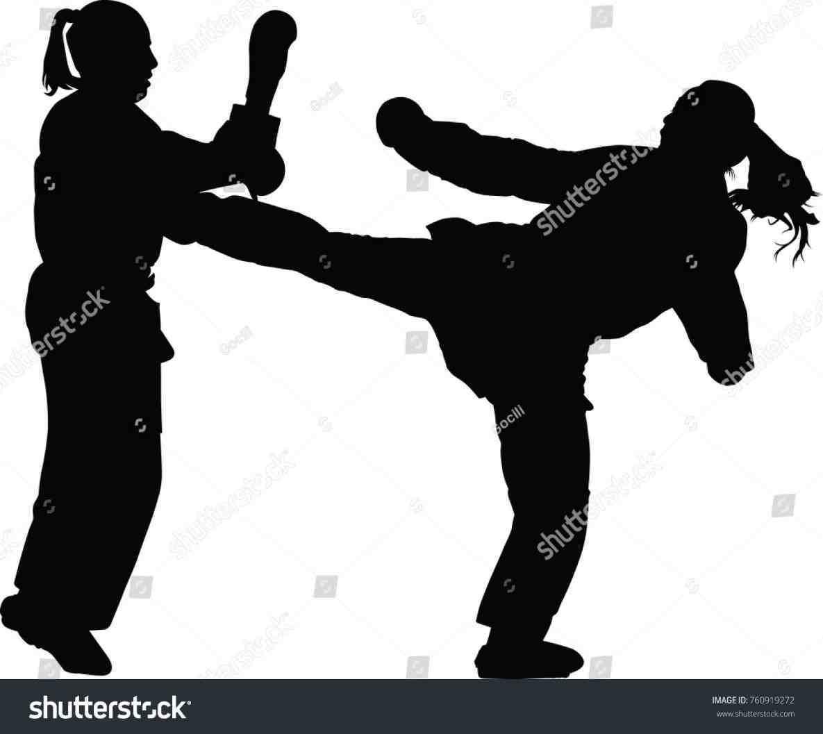 1185x1057 Jump Kick Silhouetterhnchsbandsinfo Karate Karate Kick Silhouette