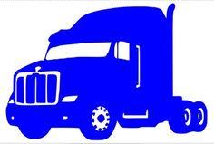 236x159 Custom Made Semi Truck In Loving Memory Of Decal