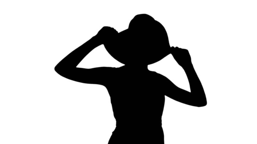 852x480 Silhouette Of Young Woman Dancing In Front Of White Screen In Slow