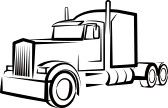 168x108 Truck Driver Semi Truck Vinyl Decal Outline Decal Custom Made