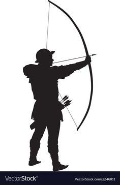 236x364 Archery Silhouette Archery Archery, Silhouettes